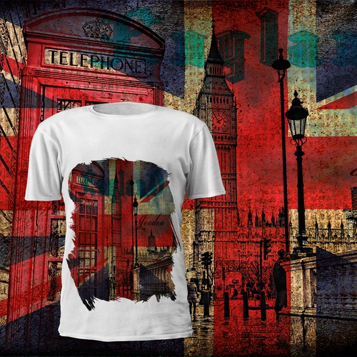 Flag t-shirt with the title 'london'