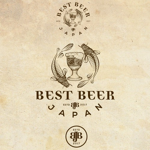 Old school logo with the title 'Best Beer Japan'
