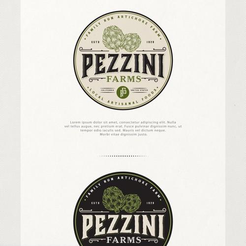 Farm logo with the title 'Logo for Pezzini Farms'