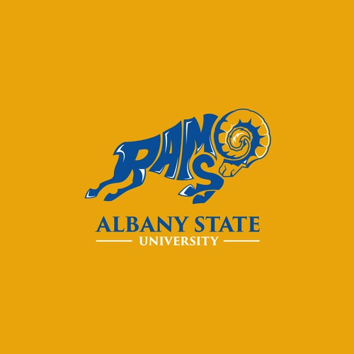 Classic t-shirt with the title 'Albany State University - RAMS'