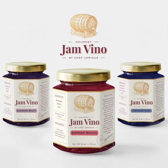 Jam design with the title 'Jam Vino'