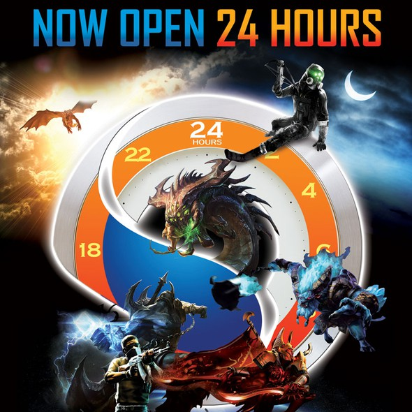 Poster artwork with the title '24 hours'
