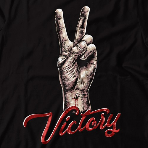Victory design with the title 'Victory'