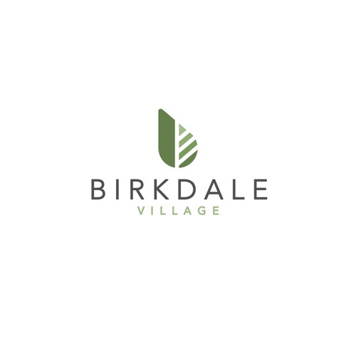 Outlet logo with the title 'Birkdale Village Logo'