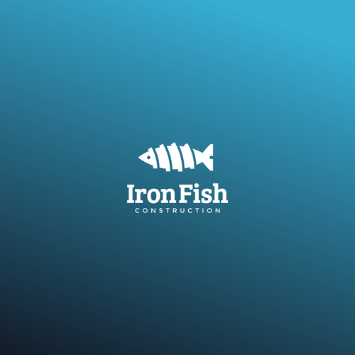 Trout logo with the title 'iron fish'