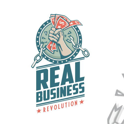 "Business logo with the title 'Huge blog with 3 million+ readers is launching a podcast...your ""revolutionary"" logo needed!'"