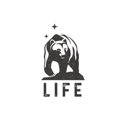Wildlife design with the title 'Life - Clothing Brand - Logo Design'