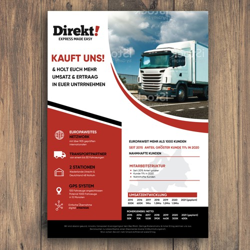 Transportation design with the title 'Direkt Express'