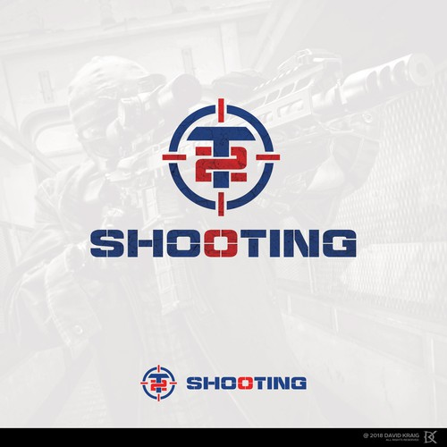 Shooting logo with the title 'T2 SHOOTING'