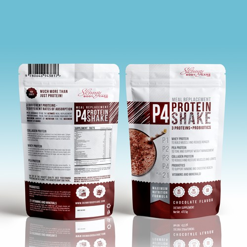 Nutrition packaging with the title 'product pack'