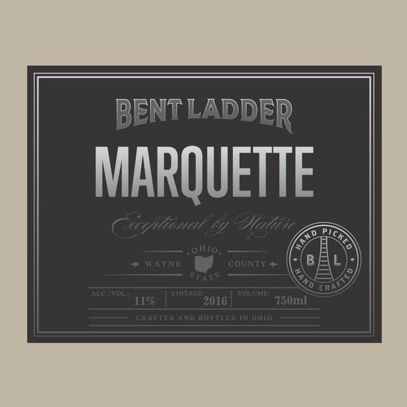 Ohio design with the title 'Wine label'