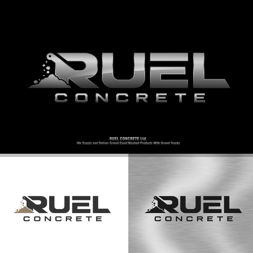 Backhoe logo with the title 'Ruel Concrete'