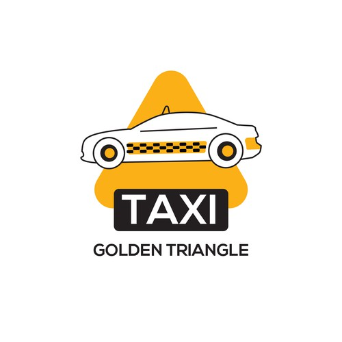 Taxi design with the title 'Taxi sticker for golden triangle'