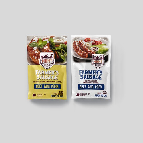 Beef packaging with the title 'Smoked Sausage Packaging'
