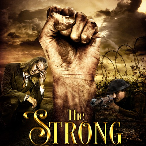 Historical fiction book cover with the title 'The Strong Within us - WWI Historical Novel'