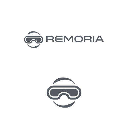 Virtual design with the title 'Logo for virtual reality '
