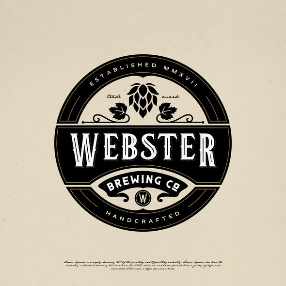 Tap design with the title 'WEBSTER BREWING CO LOGO DESIGN'