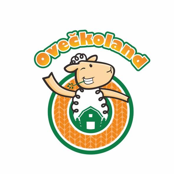 Amusement logo with the title 'Oveckoland family farm park logo'
