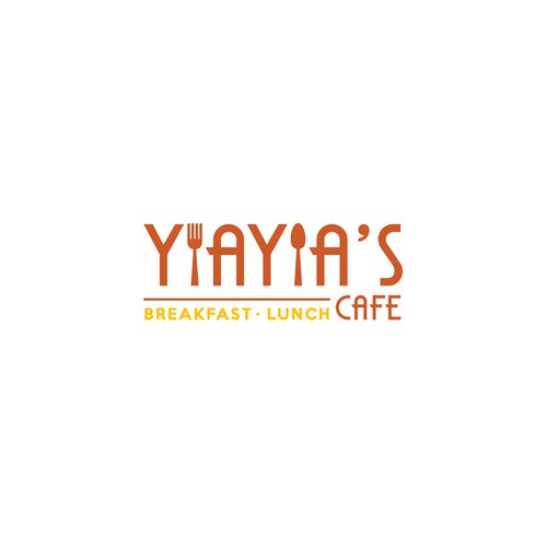 Breakfast logo with the title 'YiaYia's Cafe -  Brakfast&Lunch '