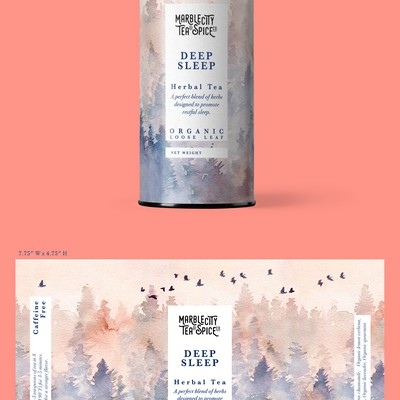 Tea blends packaging