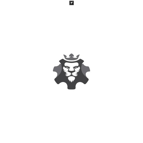 Tribal lion logo with the title 'Fierce Lion for Sheri Automotive'