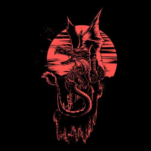 Adobe Illustrator artwork with the title 'Drogon!'