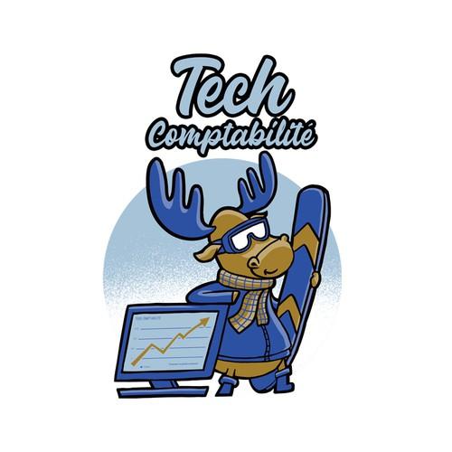 Snow design with the title 'Tech Comptabilité '