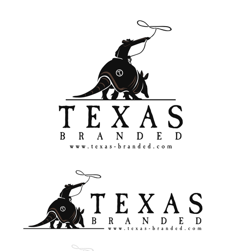 Cowboy logo with the title 'Texas Branded'
