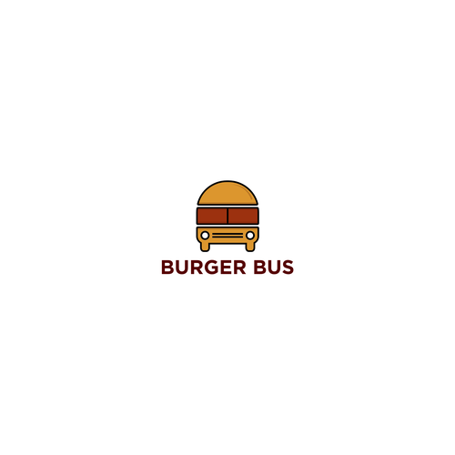 Bus logo with the title 'burger'