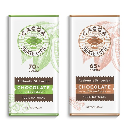 Packaging with the title 'Logo and packages for chocolate company'
