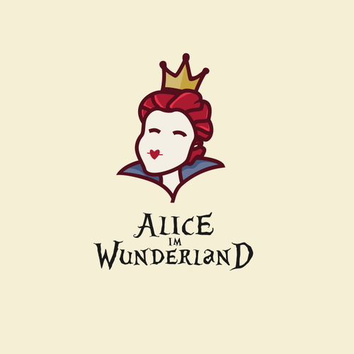 Alice in Wonderland design with the title 'Alice IM Wunderland'