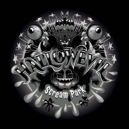 "Creepy logo with the title 'HallowEvil ""intense horror experiences""'"