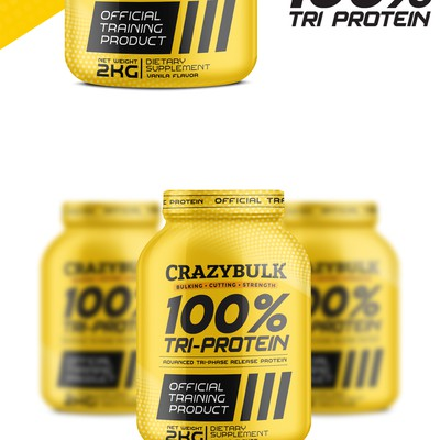 Whey Protein powder packaging design