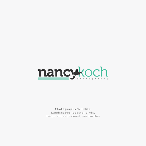 Tropical island design with the title 'Nancy Koch Photography'