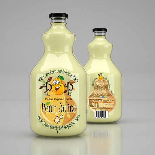 Juice label with the title 'Design for Pear Juice'