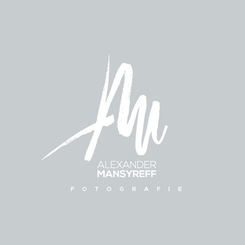 Lettering brand with the title 'Hand drawn monogram for a photographer'