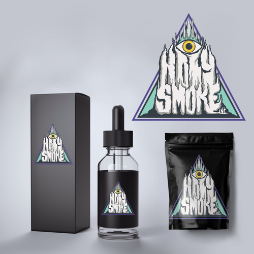 Vapor logo with the title 'Holy Smoke Logo'