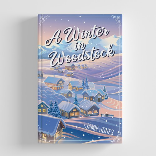 Winter book cover with the title 'A winter in woodstock'