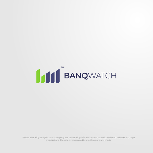 Fintech logo with the title 'Simple Logo Design for BanqWatch'