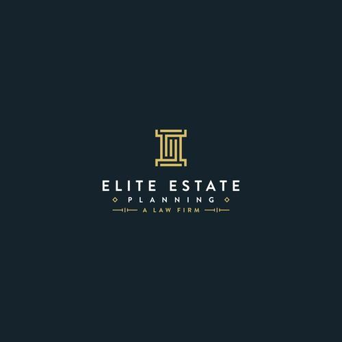 Event planning logo with the title 'Elite Estate Planning logo design'