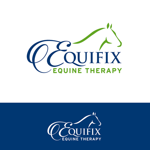 Equine design with the title 'Sophisticated logo for equine massage therapist'