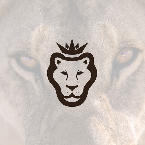 Lion King logo with the title 'icon for sports apparel brand'