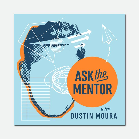 """Leadership logo with the title 'Ask the Mentor Podcast """"Cover Art""""'"""