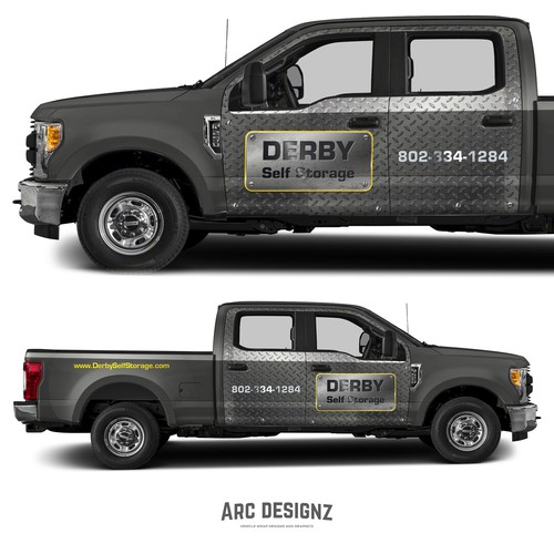 Ford design with the title 'Truck wrap for derby storage'