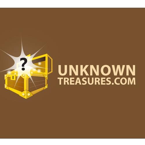 Treasure logo with the title 'Treasure chest logo'