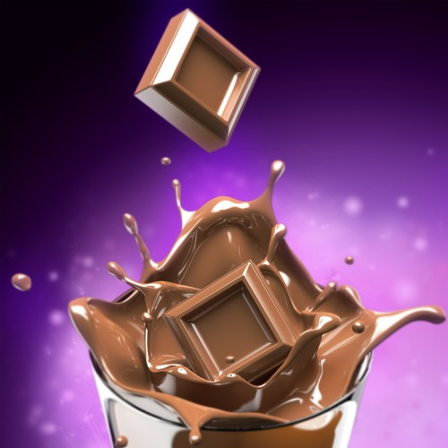 Rendering design with the title 'Chocolate Splash Rendering'