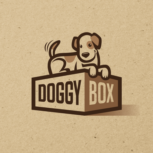 Subscription box logo with the title 'Doggy Box'