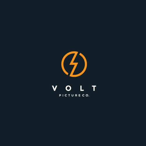 Electric shock logo with the title 'Volt logo'