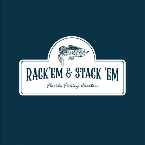 Marlin design with the title 'Rack'Em & Stack'Em'