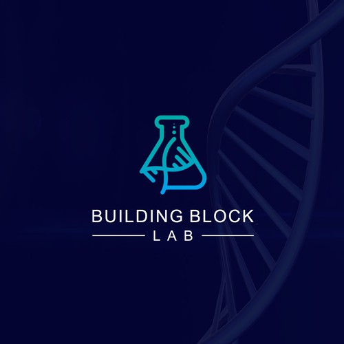 Lab design with the title 'Need a slick logo for a tech agency'